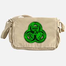glowingBiohazardGreenTCrop Messenger Bag