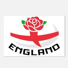 Rugby England English Ros Postcards (Package of 8)