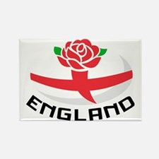 Rugby England English Rose Ball F Rectangle Magnet