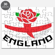 Rugby England English Rose Ball Flag Puzzle