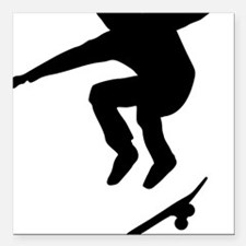 "skateboarder Square Car Magnet 3"" x 3"""