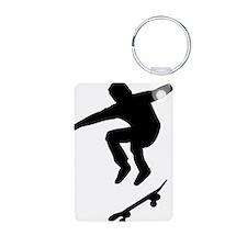 skateboarder Aluminum Photo Keychain
