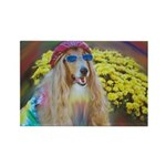 Flower Child Collie Rectangle Magnet (10 pack)