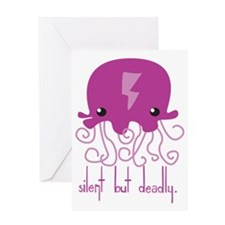 Silent but Deadly Jellyfish Greeting Card