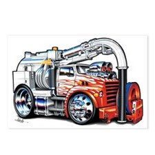 VacTruckwEngFloat Postcards (Package of 8)