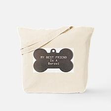 Friend Borzoi Tote Bag
