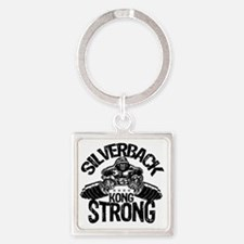 kong strong Square Keychain