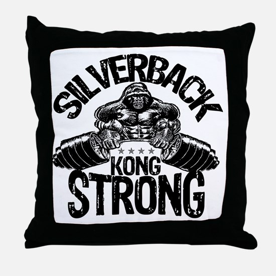 kong strong Throw Pillow