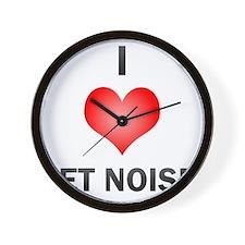 I Love Jet Noise Wall Clock
