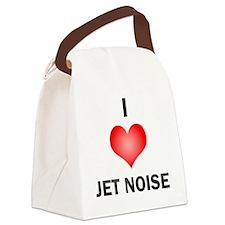I Love Jet Noise Canvas Lunch Bag