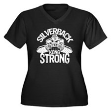 kong strong  Women's Plus Size Dark V-Neck T-Shirt