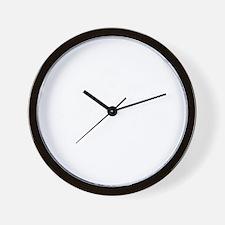 kong strong blk Wall Clock