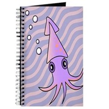 Cute Purple and Pink Squid Journal