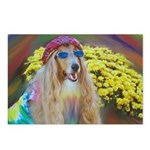 Flower Child Collie Postcards (Package of 8)