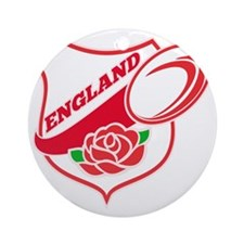 Rugby England English Rose Ball Shi Round Ornament