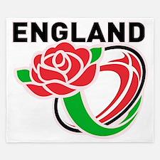 Rugby England English Rose Ball King Duvet