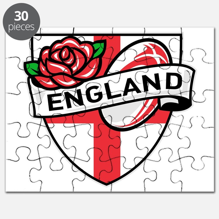 Rugby England English Rose Ball Shield Puzzle