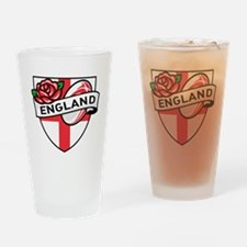 Rugby England English Rose Ball Shi Drinking Glass