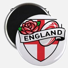 Rugby England English Rose Ball Shield Magnet