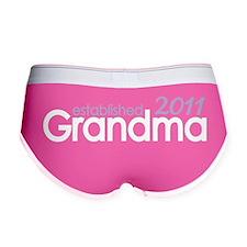 grandma established 2011_dark Women's Boy Brief