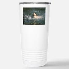 Dog in Water Travel Mug