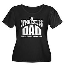 gymdad-D Women's Plus Size Dark Scoop Neck T-Shirt