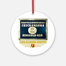33rd Alabama Infantry (flag 10) Round Ornament