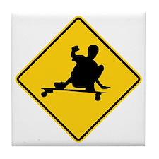 slide sign Tile Coaster