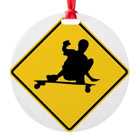slide sign Round Ornament
