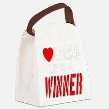 ilovecharlie_transparent_whitefon Canvas Lunch Bag