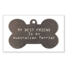 Friend Terrier Rectangle Decal