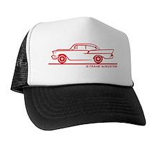 57 Chevy_1-50_Sedan_red Trucker Hat