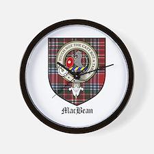MacBean Clan Crest Tartan Wall Clock