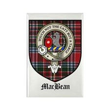 MacBean Clan Crest Tartan Rectangle Magnet (10 pac