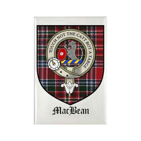 MacBean Clan Crest Tartan Rectangle Magnet (10 pac