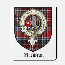 MacBean Clan Crest Tartan Mousepad