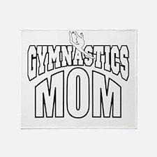 gymMOM-DARK SHIRT Throw Blanket