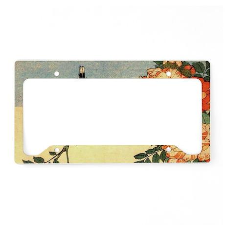 bird-flowers.travel License Plate Holder