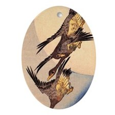 wild geese.p2 Oval Ornament