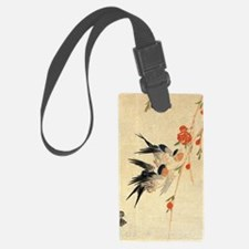 Swallow and peach flowers.travel Luggage Tag