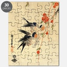 Swallow and peach flowers.travel.p3 Puzzle
