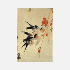 Swallow and peach flowers.travel. Rectangle Magnet