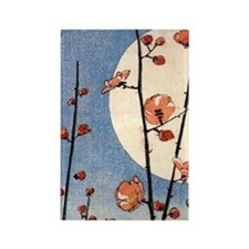 Blooming plum tree moon.p3 Rectangle Magnet