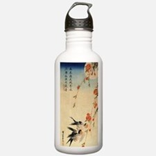 Swallow and peach flow Water Bottle