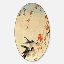 Swallow and peach flowers.travel.p1 Decal