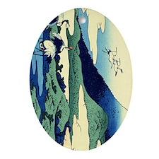 cranes-sagami.p2 Oval Ornament