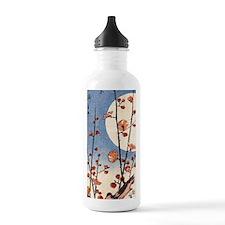 Blooming plum tree moo Water Bottle