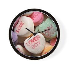 Valentine Candy Hearts Wall Clock