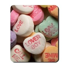 Valentine Candy Hearts Mousepad