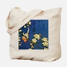 Bullfinch and drooping cherry.mouse Tote Bag